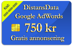 Google Adwords gratiskupong 750 kr