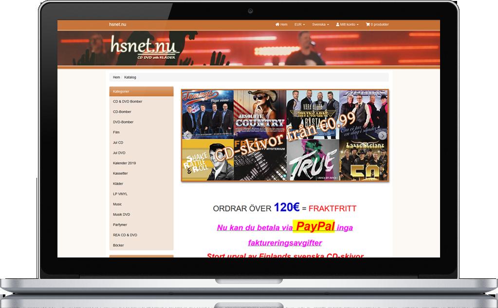 hsnet.nu e-butik med Bonuspoängsystem 1