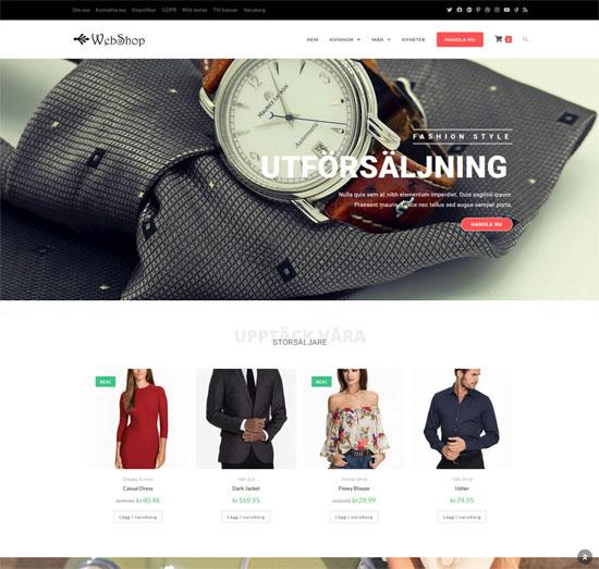 WooCommerce webshop 3 900 kr exkl.moms