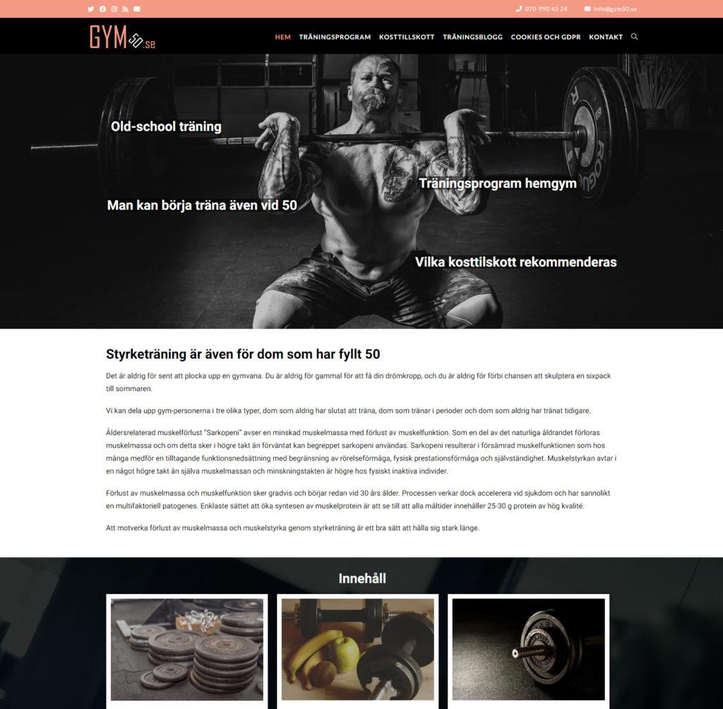 gym50 wordpress