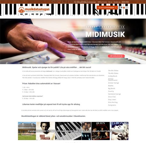 Musikdatastugan WooCommerce webshop.