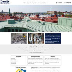 Ny hemsida åt Darells Byggnadsplåtslageri AB i Göteborg